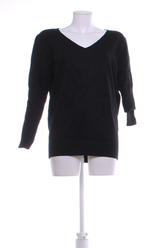 Dámský svetr černý výstřich do V velikost L