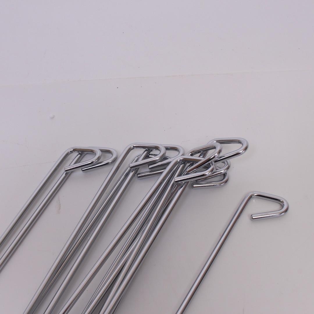 Ocelové dráty 12ks stříbrné