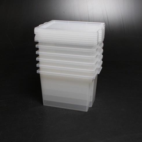 Plastové boxy s víkem Iris 130621 6 ks