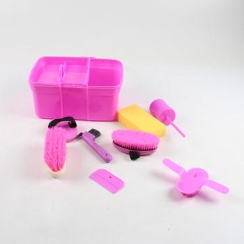 Sada kartáčů v boxu růžové barvy