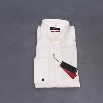 Pánská košile bílá dlouhý rukáv
