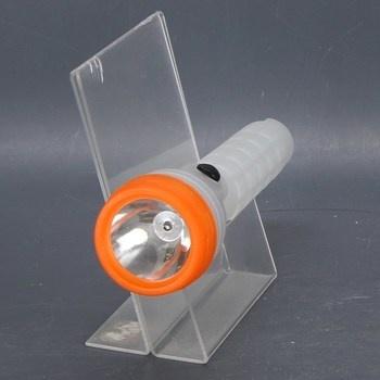 Plastová příruční LED svítilna oranžová